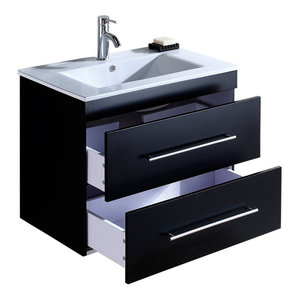 Emotion Casa Infinity 750 Bathroom Furniture, 80 cm, Black Semi-Gloss
