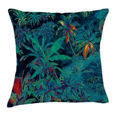 Tropical Haven Velvet Cushion, Aqua