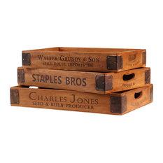 Vintage-Style Serving Trays, Charles Jones, Set of 3