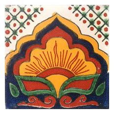 "4""x4"" Mexican Ceramic Handmade Tile #C014"