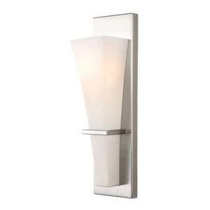 Laurel 1 Light Bathroom Vanity Light in Brushed Nickel
