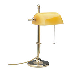 Rachel Table Lamp, Polished Brass and Yellow