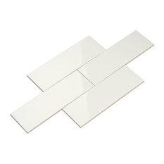 Giorbello 4 X12 Ceramic Subway Tiles Set Of 40 White