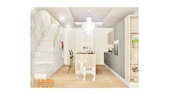 Progettazione Living - kitchen open space