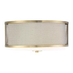 50 most popular flush mount ceiling lights for 2018 houzz bay finley 3 light semi flush mount light natural brass flush aloadofball Images