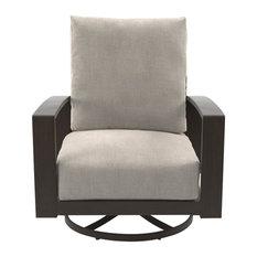 Cordova Reef Outdoor Swivel Lounge Chairs, Dark Brown, Set of 2