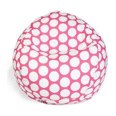 Indoor Hot Pink Large Polka Dot Small Bean Bag