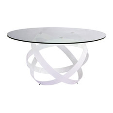 Zuri Furniture - Mambo Clear Glass Top Dining Table - Dining Tables