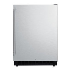 """Summit 24"""" Compact Refrigerator with 4.8 cu. ft. Capacity in Stainless Steel"""