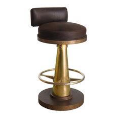 GILANI   Brass Cone Bar Chair   Bar Stools And Counter Stools