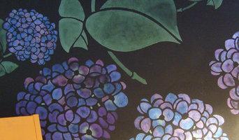141 hydrangea stencil in custom sizes