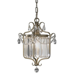 Elegant Gilded Silver 1-Light Pendant