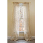 """Xia Home Fashions - Manor Luxe Tafetta 52""""x108"""" Sheer Curtain Single Panel, Beige - Refresh your windows with beautiful beige stripes elegant Curtain, providing a smooth and rich look to any room. The beautiful beige color coordinated stripes will add a simple, classic look and feel to any room in your home, apartment, office, business and more, these value-for-quality sheers also look great layered with other curtain panels."""