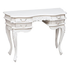 Traditional Wooden Writing Desk, White