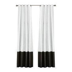 "Prima Window Curtain Set, 54""x84"", Black and White"