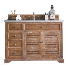 Savannah 48-inch Single Vanity Driftwood 3CM Jasmine Pearl Quartz Top