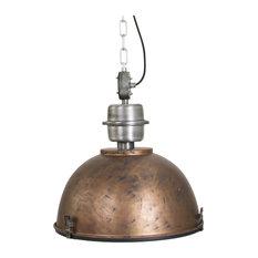 Bikkel Industrial Pendant Lamp, Distressed Copper
