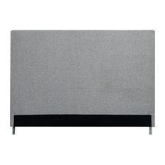 Aberdeen Upholstered Headboard, Gray Linen, King
