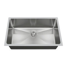 Undermount Single Bowl Stainless Steel Kitchen Sink, 18-Gauge, Sink Only