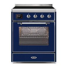 30 Majestic II Induction Range With Glass Door in Midnight Blue with Chrome (NG)
