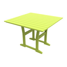 """Cafe Fusion 40"""" Square Dining Table, Leaf"""
