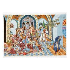 "Tabriz Image 50Raj Silk Warp Rug Oriental Rug 6'5""x9'9"" Hand-Knotted Classic"