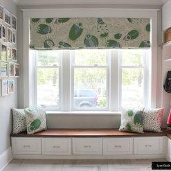 Rooms Featuring Custom Window Treatments by Lynn Chalk