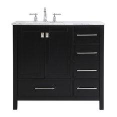 Elegant Decor VF18936BK 36 Inch Single Bathroom Vanity In Black