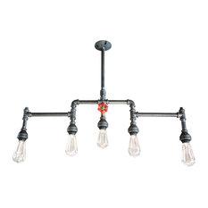 5-Light Chandelier With Brass Water Valve