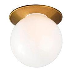Kepler Round Spotlight, Brass, Flush Mounted