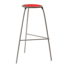 Bar Stool Red/Gray