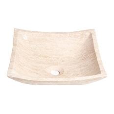 Natural Stone Vessel Sink, Petal Travertine