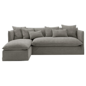 Sophie Chaise Sofa Bed, SeaMist, 2.5 Seater, Left Hand Facing, 133x186 cm