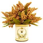 Creative Displays & Designs - Gold Wheat in French Bee Vase - Golden wheat bunch in a French bee labeled, glass container