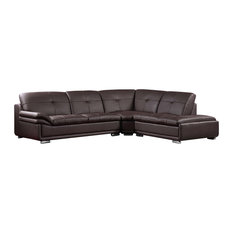 Furniture Import u0026 Export Inc. - Lindsay Modern Sectional Leather Match 3-  sc 1 st  Houzz : tufted sectional - Sectionals, Sofas & Couches