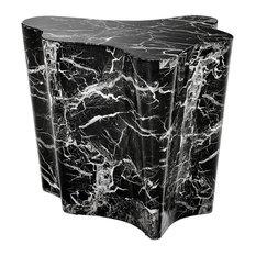 Black Marble Side Table Eichholtz Sceptre Black 27-inchx24-inchx22-inch