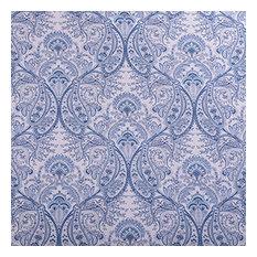 Designer Roman Shades Plain Fold, 42Wx45H, Frost Blue