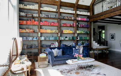 Room of the Day: Color-Coded Bookcase Spiffs Up a Nashville Library