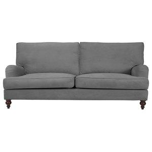 Kent T-Cushion Sofa, Grey, 4-Seater