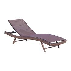 Denise Austin Home Burnham Outdoor Brown Mesh Chaise Lounge Chair