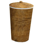"""DWBA Bath Collection - DWBA Malacca Single Hamper Laundry Basket with Lid 15""""x25"""", Rattan - DWBA Malacca Single Hamper Laundry Basket with Lid 15 X 25 inch  - Rattan. Created to bring everlasting beauty; this unique Laundry Basket is designed to increase the level of elegance in your home."""