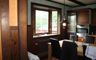Före och efter: Se det murrigt bruna köket i Varberg förvandlas
