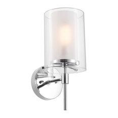 "Globe Electric 51417 Evelina Single Light 14"" Tall Bathroom Sconce"