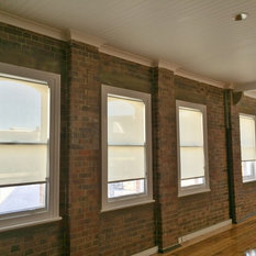 Industrial Spaces Roller Shades With Window Treatments