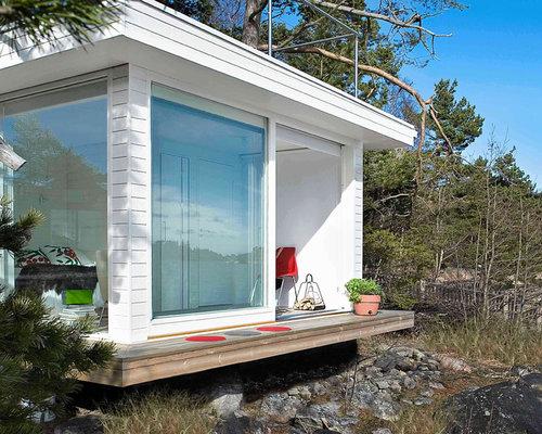Kleines skandinavisches gartenhaus ideen design bilder houzz - Skandinavisches gartenhaus ...
