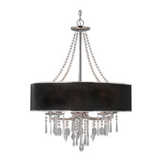 Echelon 5-Light Chandelier, Chrome With Tuxedo Shade