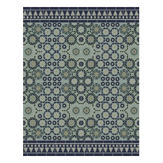 Tangier Area Rug, Blue-Green, 140x180 cm