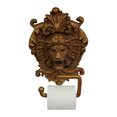 hickory manor house lion medallion plaque toilet paper holder antique gold finish toilet
