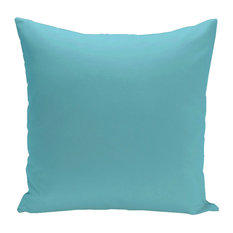 "Solid Decorative Outdoor Pillow, Turquoise, 18""x18"""