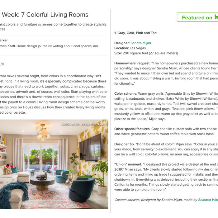 Featured on Houzz 10/9/2020